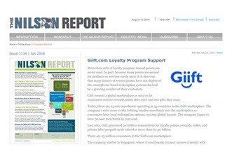The Nilson Report : Giift.com Loyalty Program Support